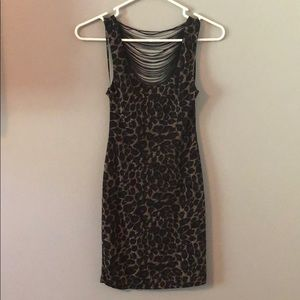 Forever21 Short Stretchy/Sparkly Cheetah Dress